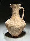 Canaanite Terracotta Wine Pitcher, 1550-200 BC.