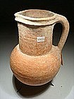 Iron Age I Wine Pitcher With a Shaped Neck, 1000 BC.