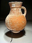 Iron Age II Reddish Terracotta Wine Jar, 930-586 BC.