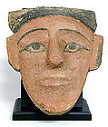 Egyptian Wood Sarcophagus Mask, 664-323 BC.
