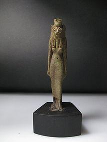 A large Egyptian Faience Sekhmet Amulet 8cm