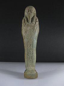 A Nice Egyptian Fayence Shabti For Chonsirdis