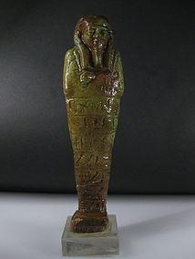 Ancient Egyptian Faience Shabti