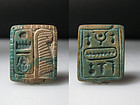 A Nice Ancient Egyptian Steatite Plaque for Thutmose III 2,3 cm