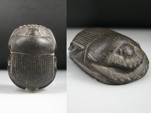 Nice Ancient Egyptian Heart Scarab 4,8 cm