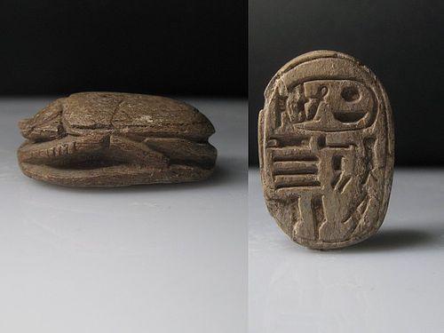 Very Large Steatite Scarab for Amenhotep III, ca. 3,8 cm