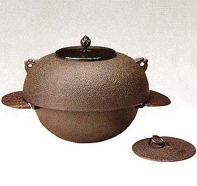 Japanese Zen Tea Ceremony Cast Iron Sotan Chagama