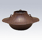 Japanese Zen Tea Ceremony Cast Iron Fujisusono Chagama