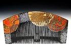 Meiji Period Japanese Geisha Hair Comb Accessory #74