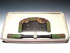 Antique Japan Geisha Hair Accessory Comb Kushi Set #9