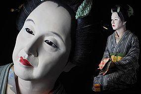 Kaunsai YOSHIHAMA Iki Ningyo Japanese Life-like Bijin Geisha Doll Art