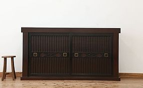 EDO Antique Japanese Sado Tansu Cabinet Ogi Chest