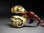 Japanese Zoge Ivory Zodiac Luck Dragon Gourd Mammoth Okimono Netsuke
