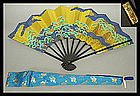 Kyoto Tea Ceremony Sensu Fan Handpainted by YAMAOKA