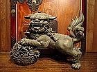 Japanese KARAJISHI Shishi Lion Foo Dog Statue Okimono