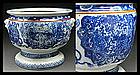 Big Imari Tea Ceremony Tetsubin Pot Hibachi Brazier