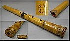 Antique Signed Japanese Bamboo Flute Shakuhachi Zen Art