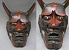 Fine Japanese Hannya Evil Porcelain Mask Men