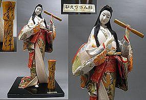 Big Beautiful Japanese Vintage Geisha Nihon Ningyo Doll