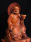 Japanese Buddhist Arhat Lohan KANAKA Sculpture Statue