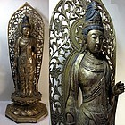Japanese Buddhist Statue Kannon Guan Yin Bosatsu Statue