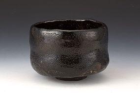 An Earthy Han-tsutsu Chawan by Asao Sosen