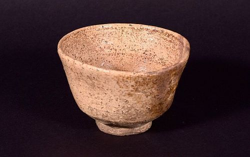 Edo Period Hagi Chawan (w/ box and shifuku)