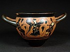 Attic Mastoid Cup by the Caylus Painter, ca. 500 BC