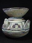 Daunian Olla with Hands, Subgeometric II B, 475-425 BC