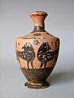 Greek Euboean Lekythos of the Dolphin Group, 550 BC