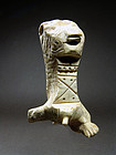 Coptic Lion-headed Bone Figurine, 4th to 7th Century AD