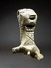 Coptic Lion-headed Bone Figurine, 4th to 7th Century AD