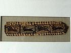 Coptic clavus border with animals, 4th/6th century AD