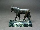 Egyptian Apis bull statue, late period, 712-33 BC
