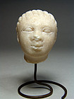 Greek marble head of a girl, late 4th early 3rd century BC