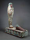 Ptah-Sokar-Osiris figure for Djed-Menu, Ptolemaic Period, 304-30 BC