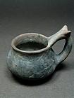 Rare impasto ware kyathos, Etruscan-Campanian 8th/7th century BC