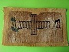 Coptic textile with large cross, 5th-8th century AD