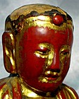 18th/19th Century Wooden Gilt Lacquered Chinese Buddha
