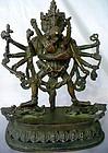 Tantric Buddhist Bronze of Chakrasamvara