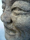 Chinese Ming Dynasty Stone Lohan Head