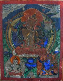 Small Tibetan Buddhist Thangka Painting