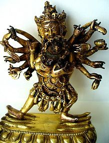 18th Century Tibet-Chinese Gilt Bronze of Chakrasamvara