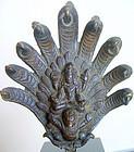 Nepalese Bronze of Vishnu riding Garuda