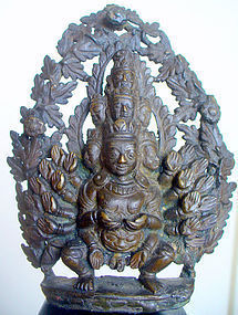 18th century Nepalese Bronze of Visvarupa