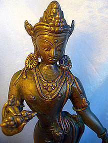 Nepalese Bronze Figure Of Vajrapani
