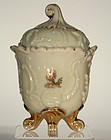 Louis XV  Custard Glass Covered Sugar