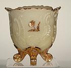 Custard Glass Louis XV Spooner by Northwood