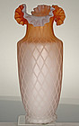 Tall Satin Mother of Pearl Vase