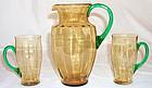 Steuben Lemonade Pitcher & 8 Cups